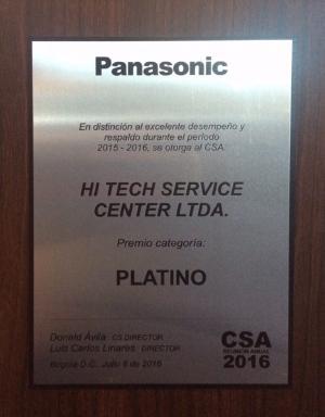 Premio Platino Centro de Servicio Técnico Autorizado Panasonic Cali